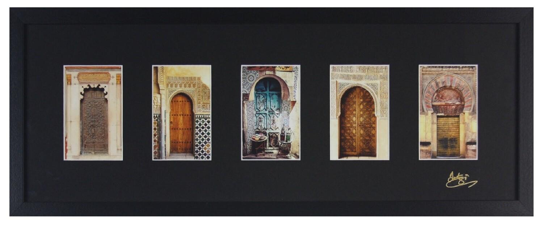 Traditional Doorways Design in Black 3D Memory Box Frame