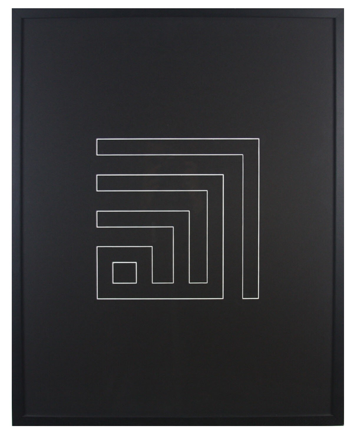Allah Kufic Calligraphy V-Groove Design in Black 3D Matte Finish Box