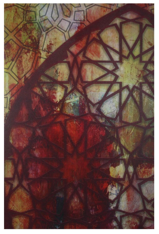Blessed Arches Warm Tones Geometric Design Giclée Canvas