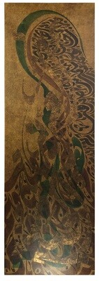 Al Aziz & Al Jabar Gold Foiling Textured Art Original Hand Painted Canvas