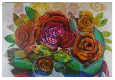 Flowers Oil Painting Large Original Hand Painted Canvas