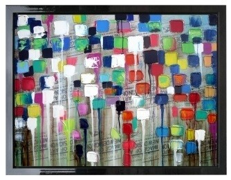 Abstract Brainstorm Modern High Gloss Oil Painting Canvas