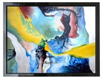 Abstract Torrent Contemporary High Gloss Oil Painted Canvas