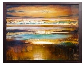 Abstract Dreamscape Contemporary High Gloss Oil Painting Canvas