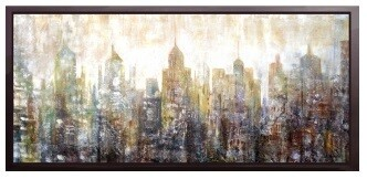 City at Dawn - High Gloss Oil Painting Canvas