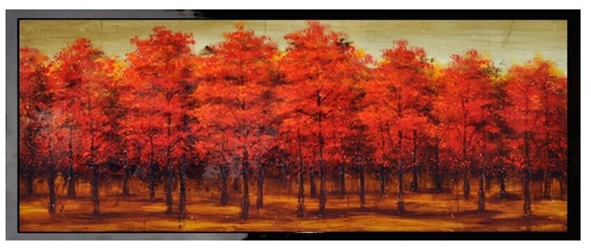 Crimson Morning - High Gloss Oil Painting