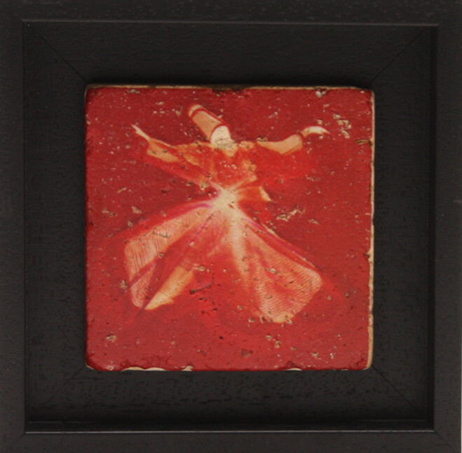Whirling Dervish Red Design Stone Art