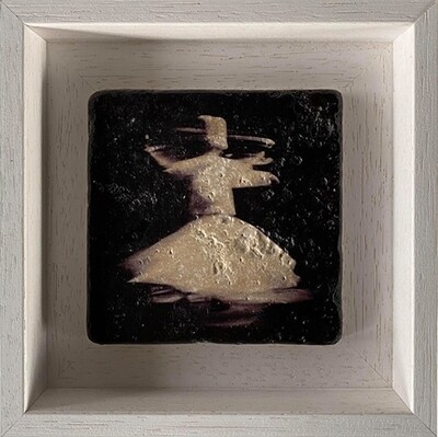 Whirling Dervish Monochrome Design Stone Art