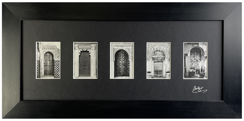 Traditional Doorways Design in Black Satin Grain Frame