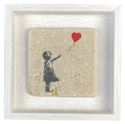 Banksy's Girl with Balloon Design Stone Art