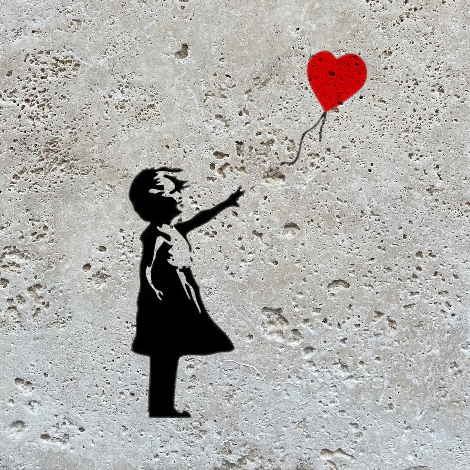 Banksy's Girl with Balloon Design Greeting Card