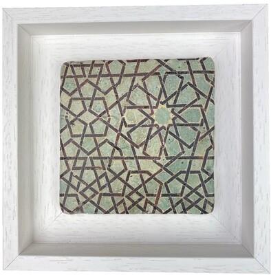 Sky Blue Ottoman Seljuk Geometric Stone Tile