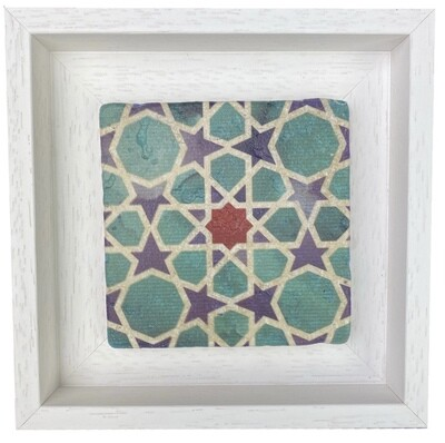 Turquoise, Red and Blue Geometric Stone Stile