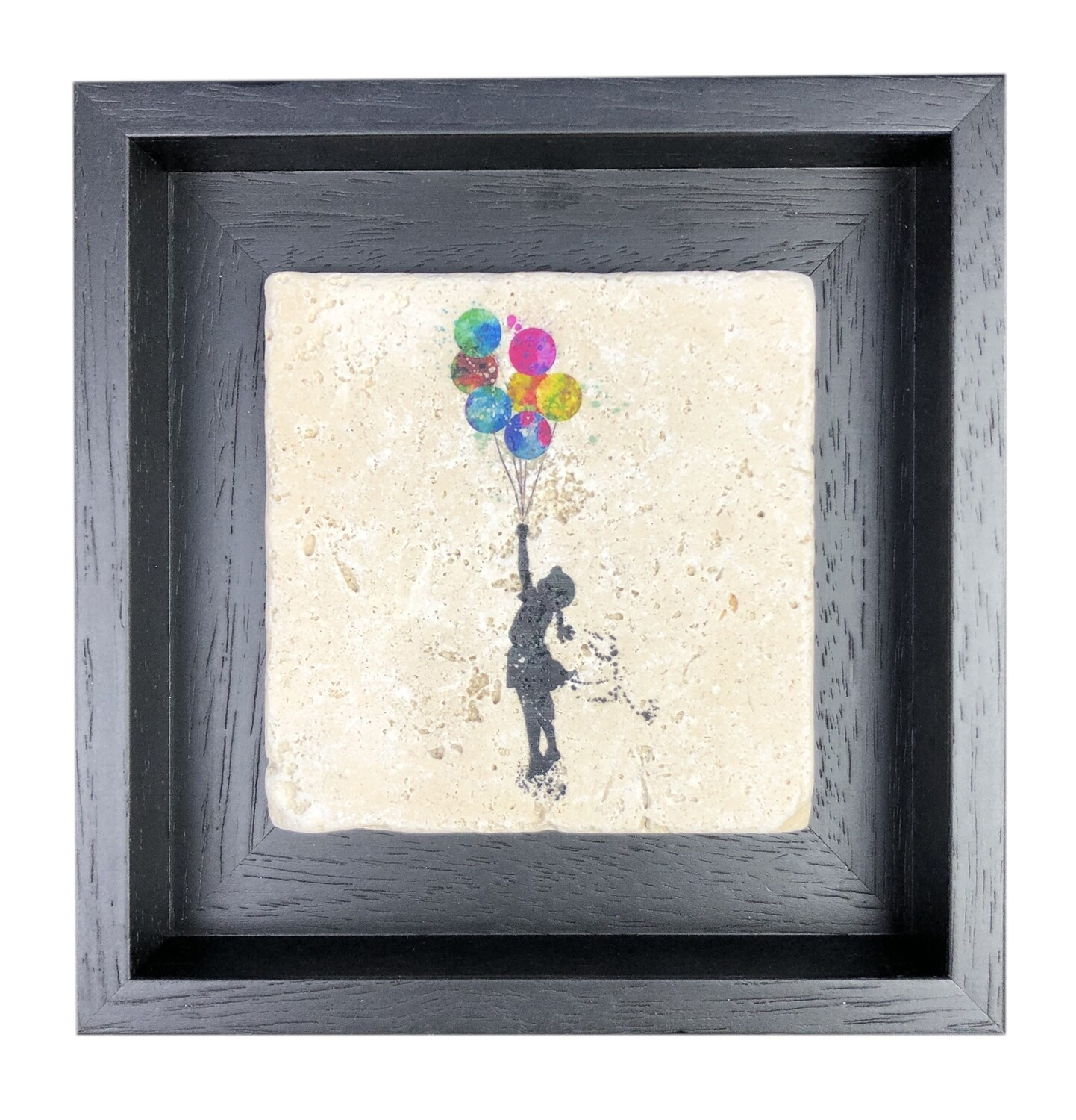 """Banksy's """"The Girl with the Balloons"""" Design Stone Art"""