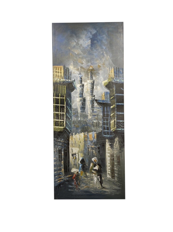 Streets of Baghdad Knife Art Original Giclée Canvas