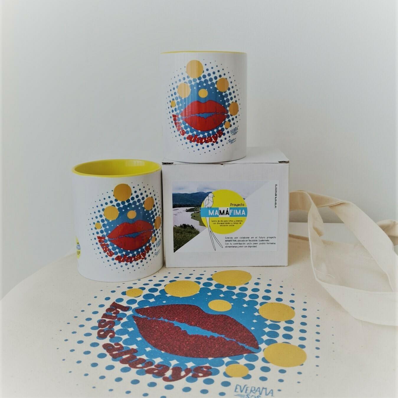 Pack tazas twin + bolsa SiempreBesos