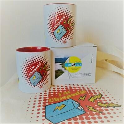 Pack tazas twin + bolsa Chispos@