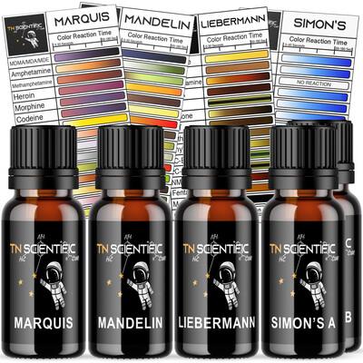 TN Scientific | Marquis, Mandelin, Liebermann, Simon's Reagent Testing Kit ~