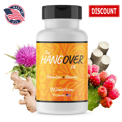 TN Scientific | The Hangover Pill | 35 Count w/ Pill Holder