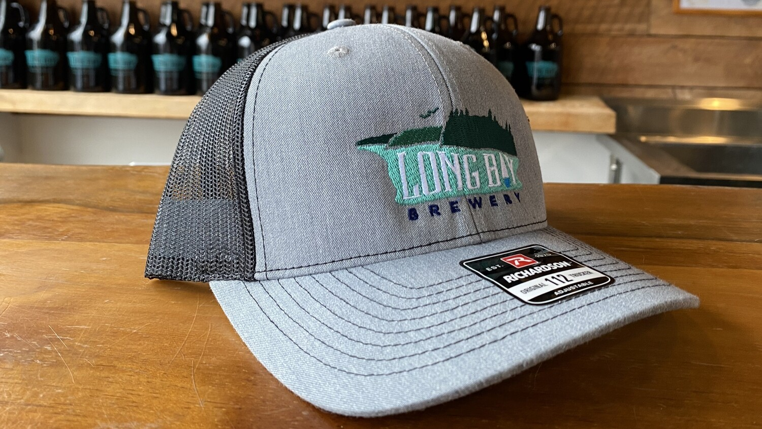 Long Bay Hat Dark Grey/Black