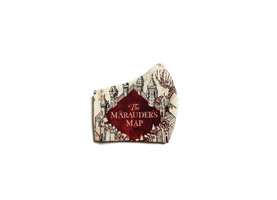 Harry Potter Marauders Map - Cotton Face Mask with Filter Pocket
