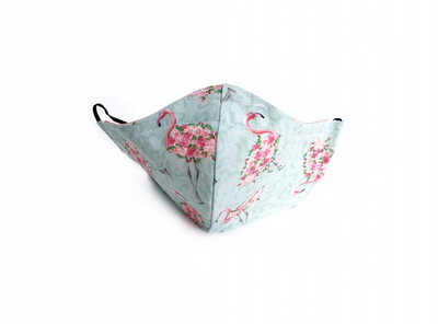 Flamingo - Cotton Face Mask with Filter Pocket