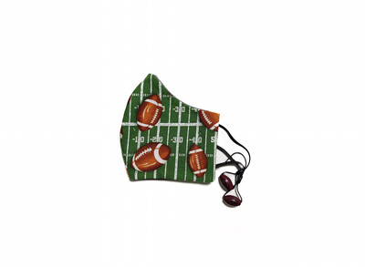 Football - Cotton Face Mask with Filter Pocket