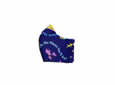 Oh the Places You'll Go - Cotton Face Mask with Filter Pocket