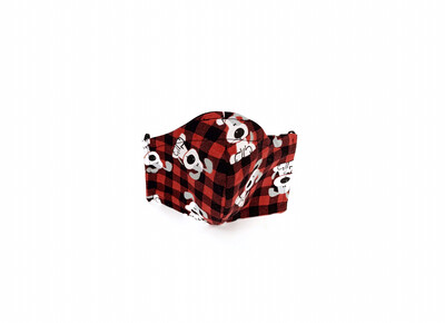 Plaid Puppies - Cotton Face Mask with Filter Pocket