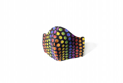 Rainbow Polka Dots - Cotton Face Mask with Filter Pocket
