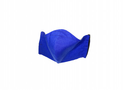 Solid Blue - Cotton Face Mask with Filter Pocket