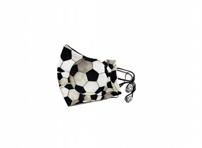 Soccer - Cotton Face Mask with Filter Pocket
