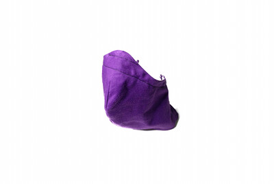 Solid Purple - Cotton Face Mask with Filter Pocket