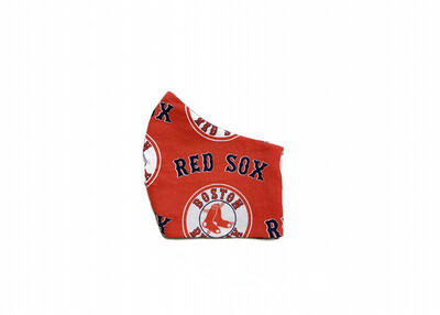 Red Sox on Red - Cotton Face Mask with Filter Pocket