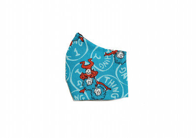 Thing 1 & 2 - Cotton Face Mask with Filter Pocket