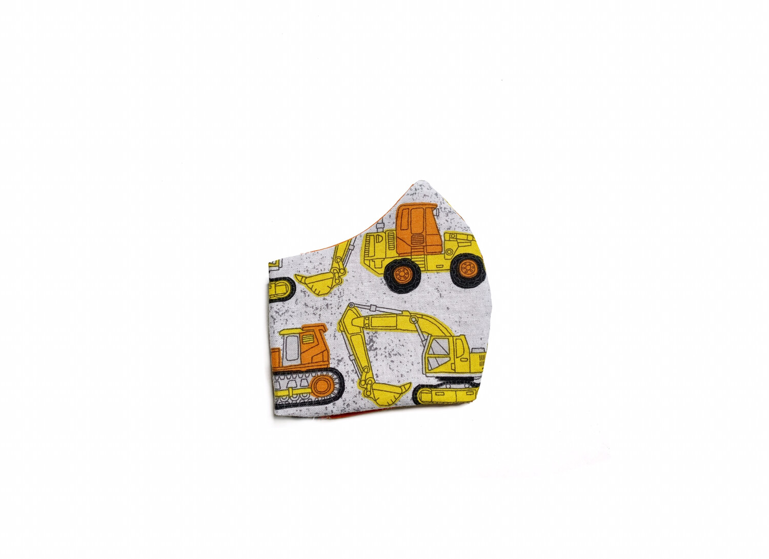 Construction Vehicles - Cotton Face Mask with Filter Pocket