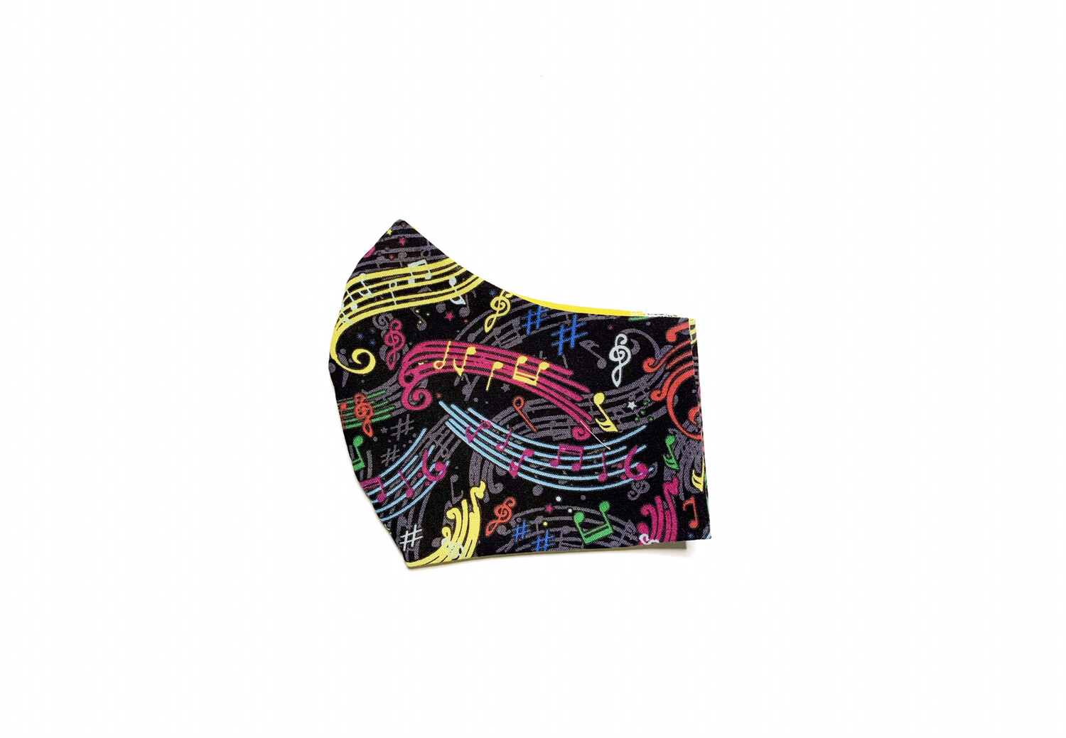 Music & Colorful Notes - Cotton Face Mask with Filter Pocket