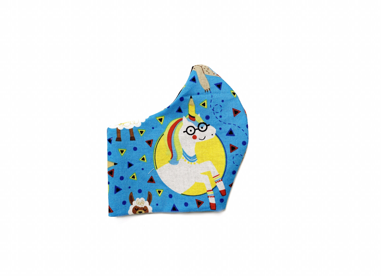 School Print With Llamas & Friends - Cotton Face Mask with Filter Pocket
