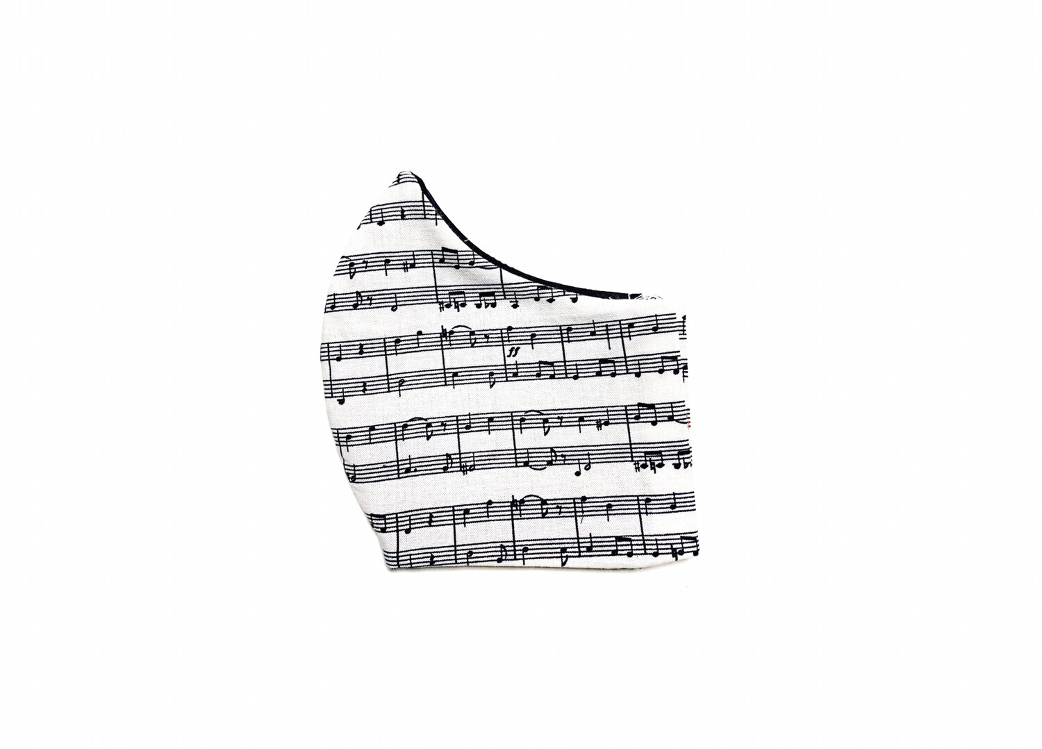 Music Composition  - Cotton Face Mask with Filter Pocket
