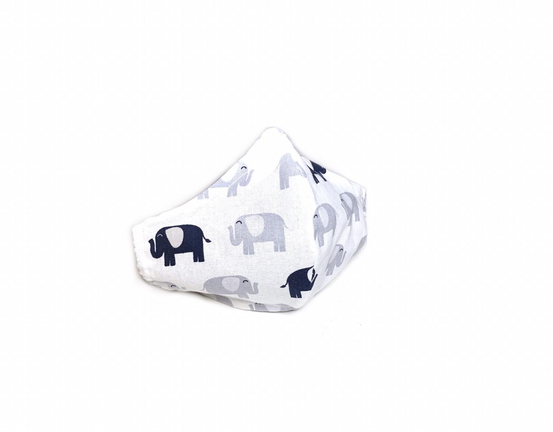 Elephants - Cotton Face Mask with Filter Pocket Pocket