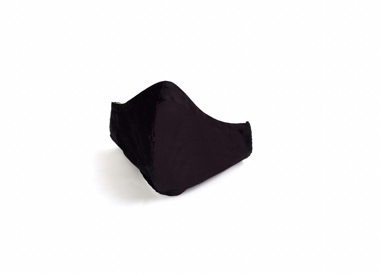 Solid Black - Cotton Face Mask with Filter Pocket