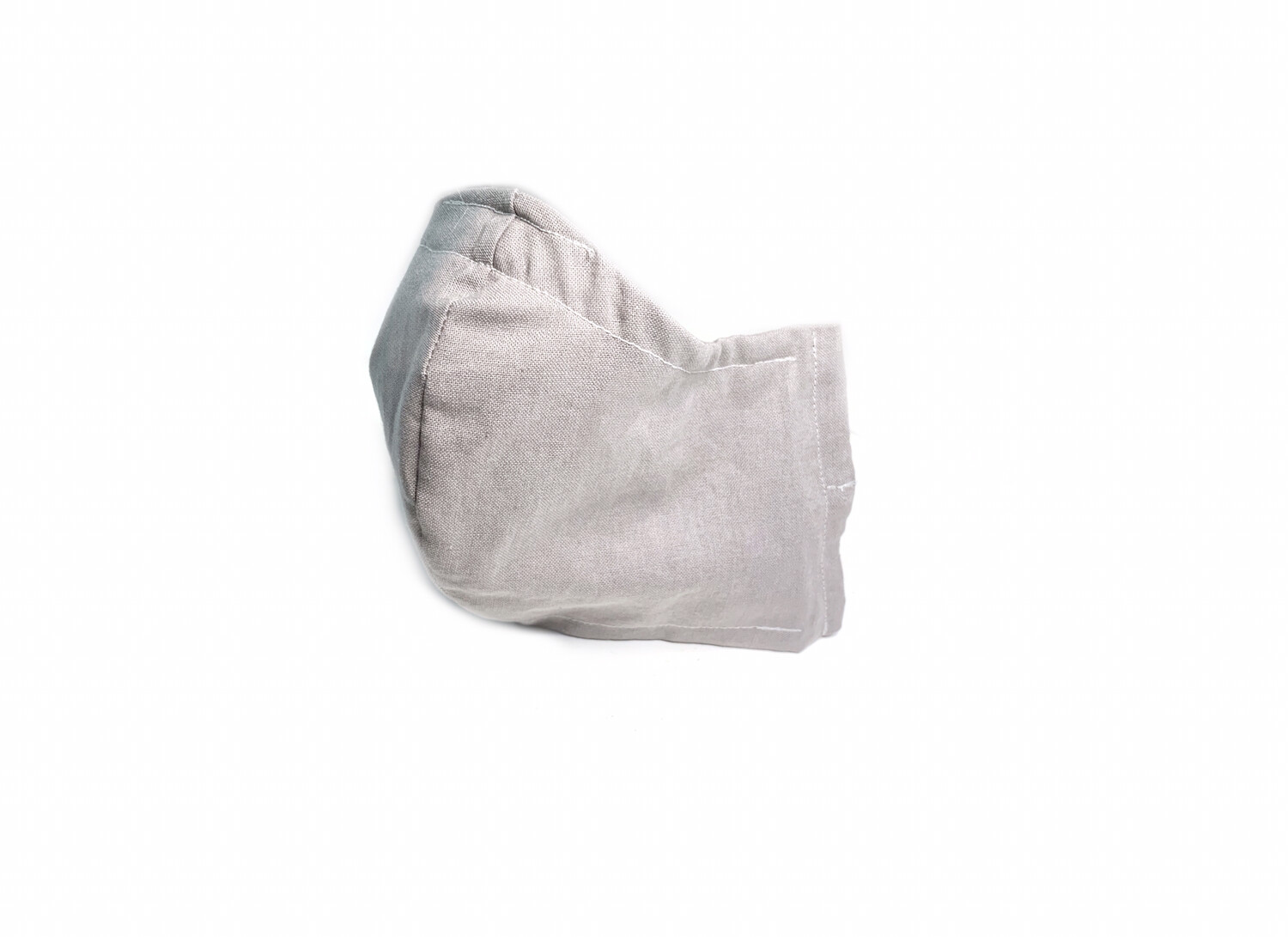 Solid Grey - Cotton Face Mask with Filter Pocket