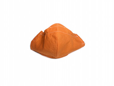 Solid Orange - Cotton Face Mask with Filter Pocket