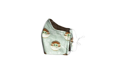 Baby Yoda - Cotton Face Mask with Filter Pocket