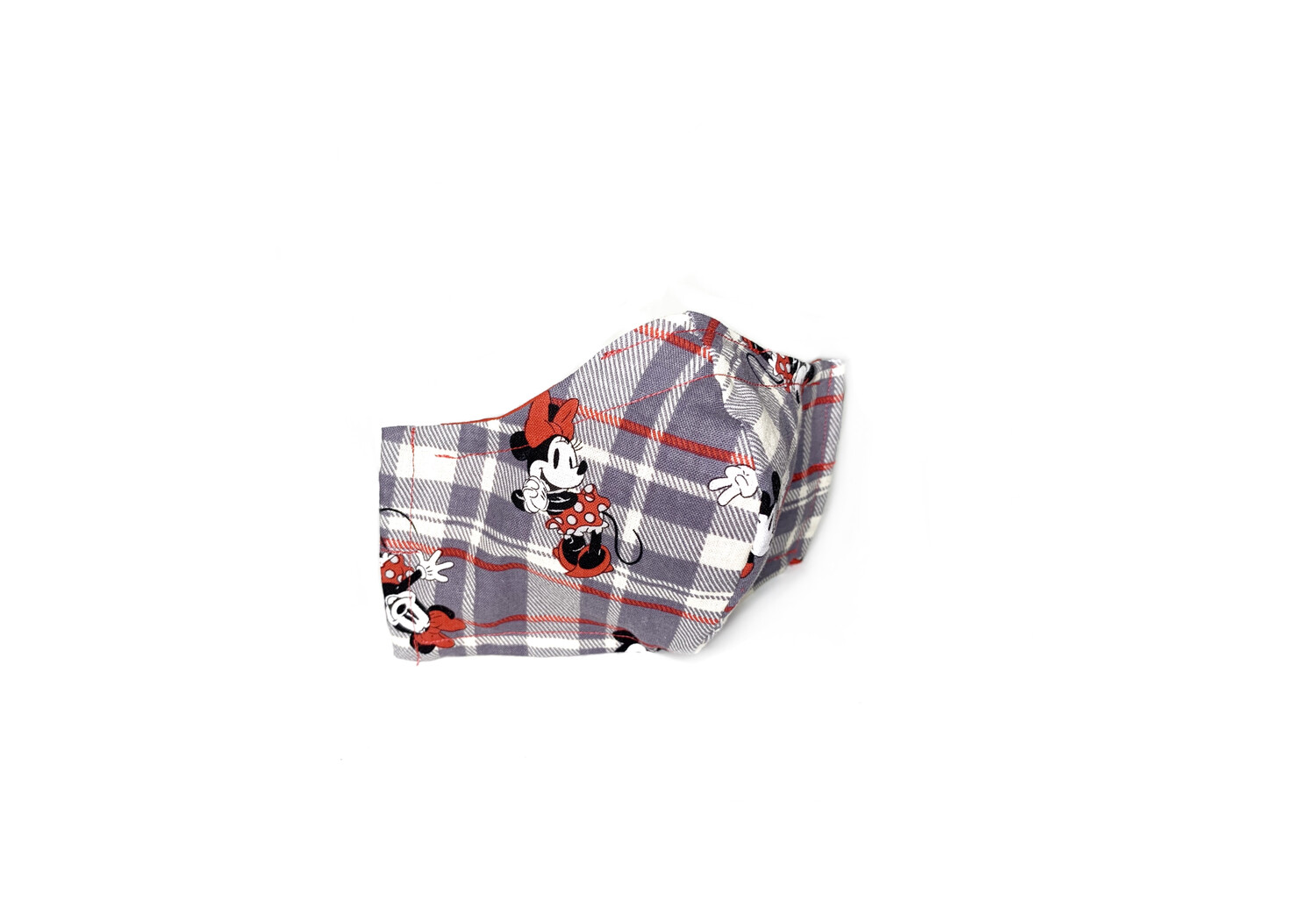Mickey & Minnie on Plaid - Cotton Face Mask with Filter Pocket