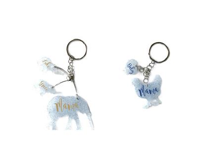 Mama Elephant Or Chicken Keychain