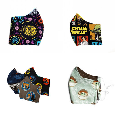 Star Wars Themed Prints (Multiple Prints To Choose From!)  - Cotton Face Mask with Filter Pocket