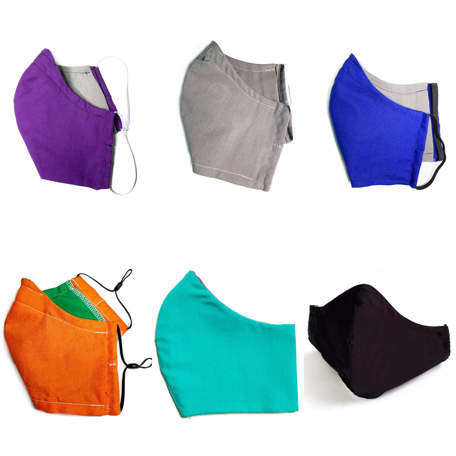 Solid Color (Multiple Colors Available!)- Cotton Face Mask with Filter Pocket