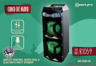 Amplify Sentinel Series Dual 8 Bluetooth Party Speaker