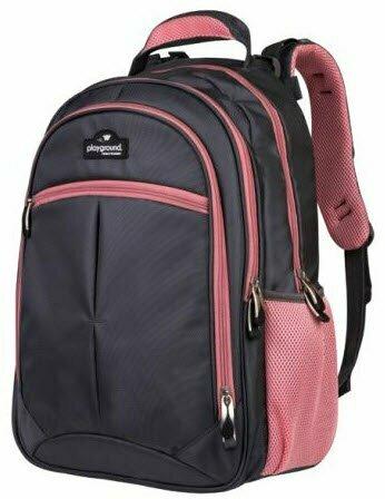 Playground Orthopaedic Backpack 27L; Dark Grey/Pink